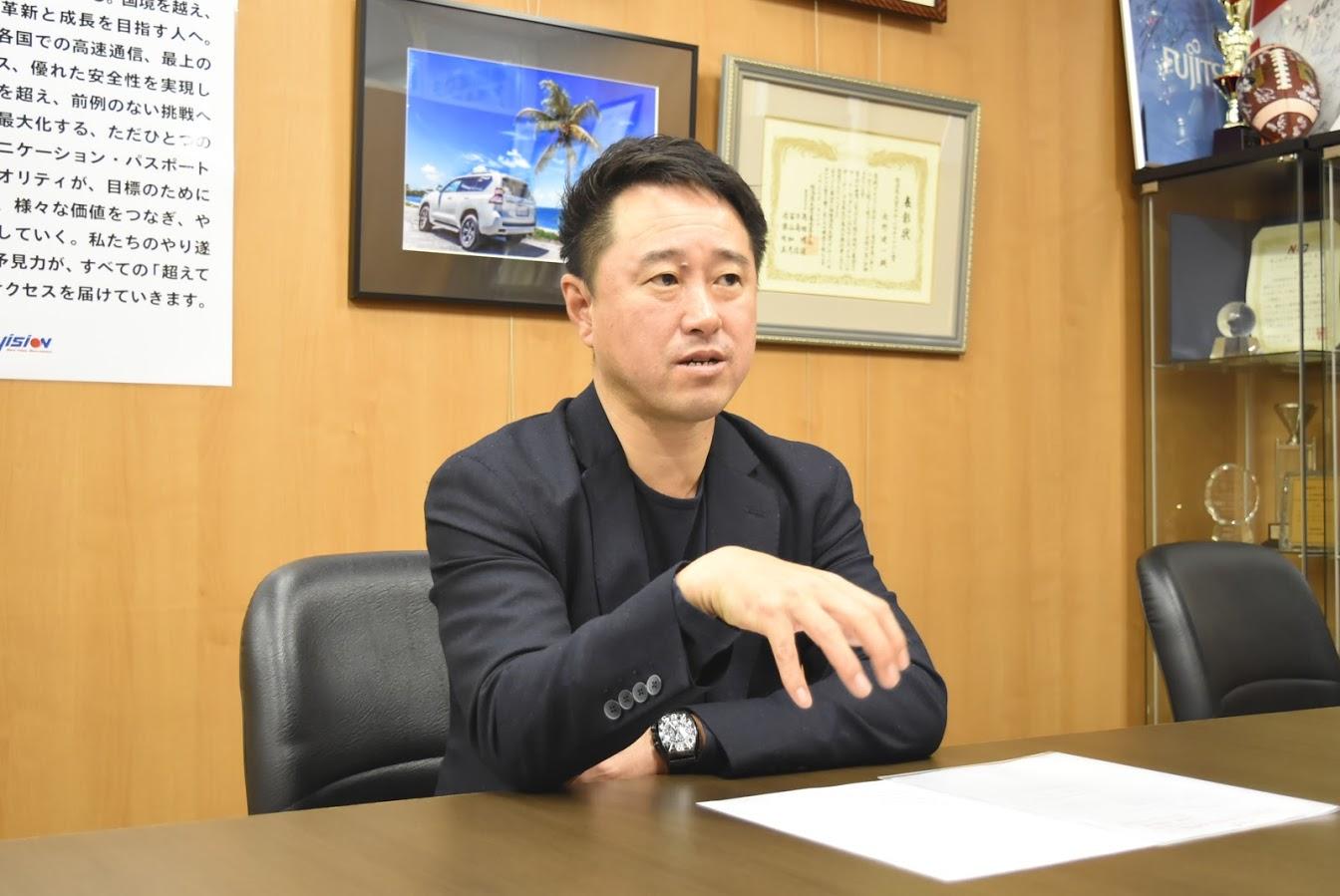 (株)ビジョン 代表取締役社長 佐野 健一